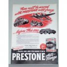 1944 Prestone Anti-Freeze Color Wartime Tank Jeep Vintage Color Print Ad