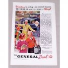 1937 The General Dual 10 Tires Vintage Color Print Ad