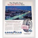 1960 Goodyear Tires New Orleans Expressway Bridge Vintage Color Print Ad