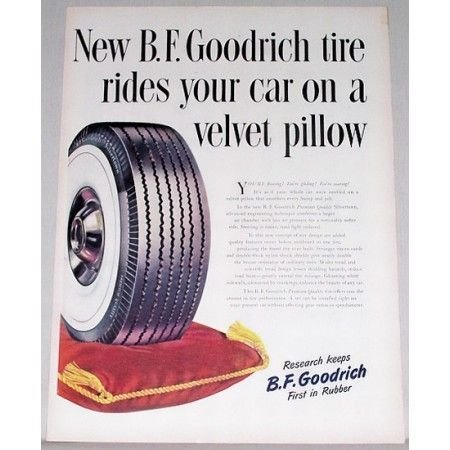 1948 B.F. Goodrich Silvertown Tires Vintage Color Print Ad
