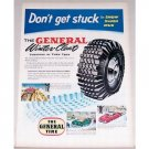1955 General Tire Winter Cleat Tires Vintage Color Print Ad