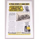 1937 Goodrich Silvertown Tires Vintage Print Ad Celebrity Zane Grey