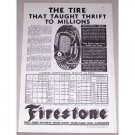 1932 Firestone Tires Vintage Print Ad - The Tire That Taught Thrift