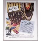 1946 U.S. Royal Deluxe Tires Vintage Color Art Print Ad