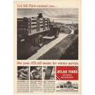 1955 Atlas Tires Vintage Print Ad - Let Fall Fairs Remind You