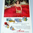 1952 Avon Cosmetics Vintage Color Print Makeup Ad Celebrity Loretta Young