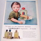1957 Bond Street Yardley Fragrances Vintage Color Print Ad