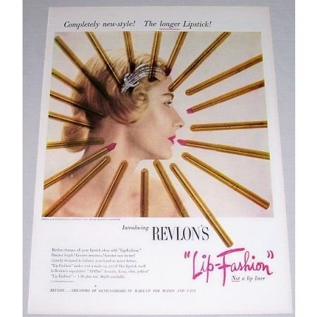 1948 Revlon's Lip Fashion Lipstick Vintage Color Print Ad