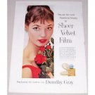 1957 Dorothy Gray Sheer Velvet Film Foundation Vintage Color Print Ad