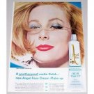 1962 Pond's Angel Face Medicate Cream Make-Up Vintage Color Print Ad