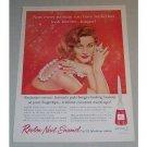 1957 Revlon Nail Enamel Vintage Color Print Ad