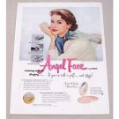 1951 Pond's Angel Face Makeup Mirror Case Vintage Color Print Ad