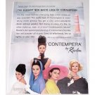 1962 Revlon Contempera Finish Make-Up Color Print Ad