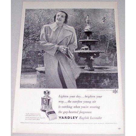 1948 Yardley English Lavender Fragrance Vintage Print Ad - Lighten You