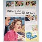1948 Lustre Creme Shampoo Vintage Color Print Ad Celebrity Jennie Crain