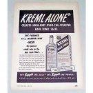 1950 Kreml Hair Tonic Vintage Print Ad - Kreml Alone