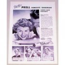 1949 Prell Shampoo Vintage Print Ad - Leaves Hair Radiant!