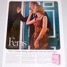 1960 Fems Feminine Napkins Vintage Color Print Ad