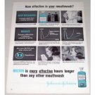 1961 Johnson and Johnson Micrin Oral Antiseptic Vintage Print Ad