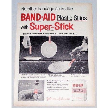 1953 Band Aid Plastic Strips Bandages Vintage Print Ad