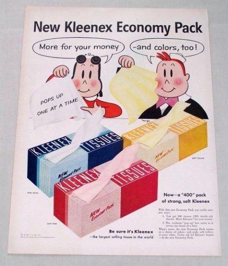 1955 Kleenex Tissues Little Lulu Art Vintage Color Print Ad
