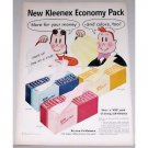 1955 Kleenex Tissues Economy Pack Little Lula Art Vintage Color Print Ad