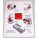 1949 Kleenex Tissues Marge Little Lulu Art Vintage Color Print Ad