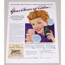 1945 Zenith Radionic Hearing Aid Color Print Ad - Choice Of Colors