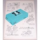 1948 Yes Tissues Color Print Ad - All The Time Is Yes Time