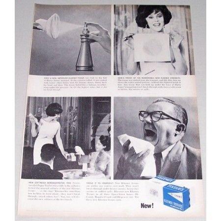 1963 Hi Count Kleenex Tissues Vintage Print Ad