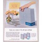 1955 Kotex Napkins Grey Package Color Print Ad