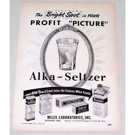 1950 Alka Seltzer Vintage Print Ad - The Bright Spot