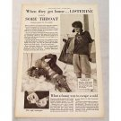 1929 Listerine Antiseptic Print Ad - When They Get Home...