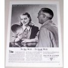 1944 Bausch Lomb Optical Co. Vintage Print Ad - Enlist Your Dollars