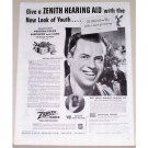 1944 Zenith Hearing Aid Vintage Print Ad - New Look Of Youth