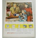 1948 Johnson Johnson Bandages Drug Store Art Color Print Ad