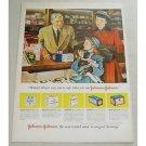 1948 Johnson Johnson Bandages Drug Store Art Color Print Ad