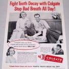 1960 Colgate Dental Cream Toothpaste Vintage Print Ad