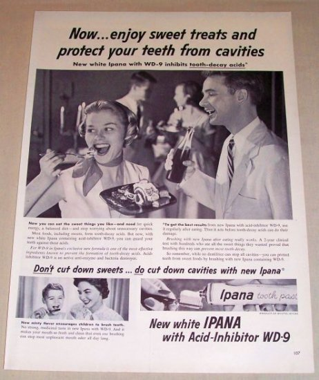 1954 IPANA Tooth Paste Vintage Print Ad