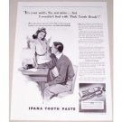 1941 Ipana Tooth Paste Vintage Print Ad - It's Your Smile, Sis