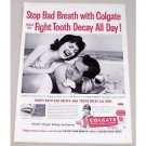 1959 Colgate Dental Cream Vintage Print Ad - Fight Tooth Decay
