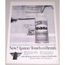 1958 Ipana Touch-n-Brush Tooth Paste Vintage Print Ad