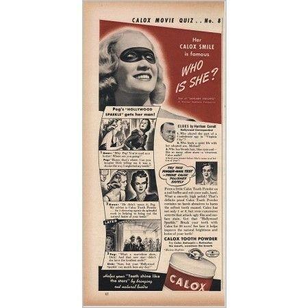 1940 Calox Tooth Powder Vintage Print Ad Celebrity Miriam Hopkins