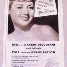1945 Arrid Deodorant Vintage Print Ad Celebrity Joan Blondell