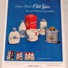 1955 Old Spice Gift Products Shaving Color Print Ad