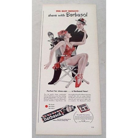1948 Barbsol Shaving Color Print Art Ad - Perfect For Closeup