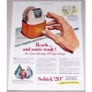 1951 Schick 20 Electric Shaver Color Print Ad - Reach And Your Ready