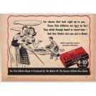 1940 Gillette Thin Blades Shaving Vintage Print Ad - Right Up To Par