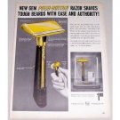 1959 ASR Gem Push Button Shaving Razor Vintage Print Ad