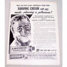 1944 Listerine Shaving Cream Vintage Print Ad - Make Shaving A Pleasure